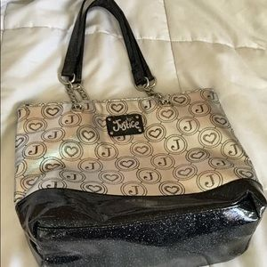 Justice Black and white bag